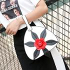 Flower Applique Handbag