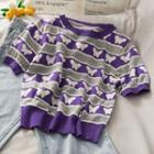 Slim-fit Printed Light Knit Top