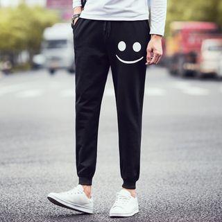Smiley Print Sweatpants