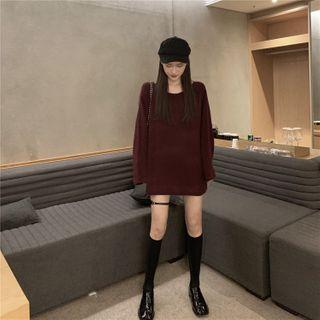 Plain Sweater Fuschia - One Size