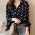 Tie-cuff Dotted Shirt