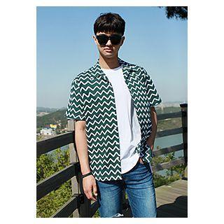 Short-sleeve Herringbone Shirt