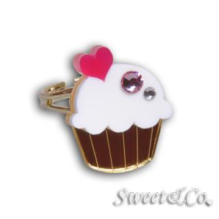 Mini White Cupcake Crystal Gold Ring (s) Gold - One Size