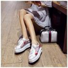 Lips Appliqu  Platform Sneakers