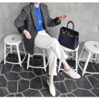 Multi-pocket M Lange Wool Blend Blazer