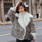 Notch Lapel Tweed Jacket