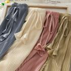 Drawcord Pleated Wide Pants