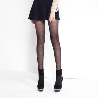 Sheer Jacquard Tights