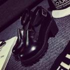 Ankle-strap Platform Chunky-heel Pumps