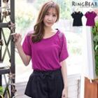Rhinestone Sleeve T-shirt