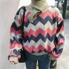 Chevron Patterned Sweater