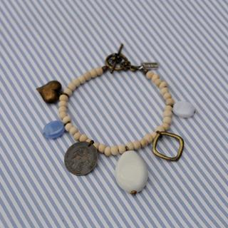 Ancient Coin Love Wooden Bracelet