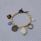 Ancient Coin Love Wooden Bracelet