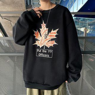 Maple Print Sweatshirt