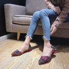 Fringe Pointy-toe Flats