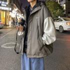 Paneled Zip Hooded Jacket