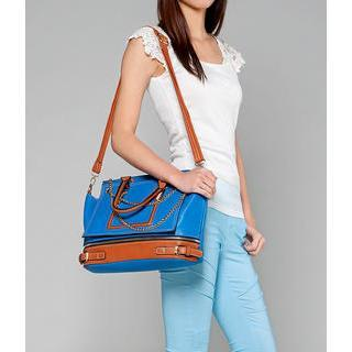 Chain Detail Satchel Blue - One Size