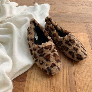 Leopard Faux-fur Flats