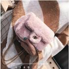 Furry Chain Strap Shoulder Bag
