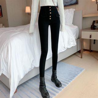 Turtleneck Cropped Sweater / High-waist Skinny Pants