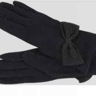 Bow-accent Gloves
