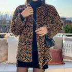 Leopard Print Faux-fur Jacket