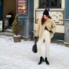 Fleece Lined Baggy-fit Pants