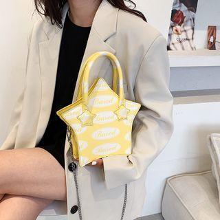 Lettering Star Shaped Chain Crossbody Bag