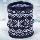 Print Knit Infinity Scarf