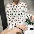 Polka Dot Blouse Shirt - Polka Dot - One Size