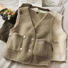 Double-breasted Fleece Vest