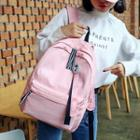Nylon Badge Ribbon Accent Backpack