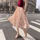 Floral Printed A-line Chiffon Skirt