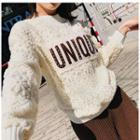 Lettering Lace Pullover