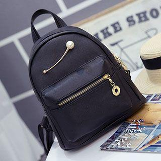Faux Pearl Backpack
