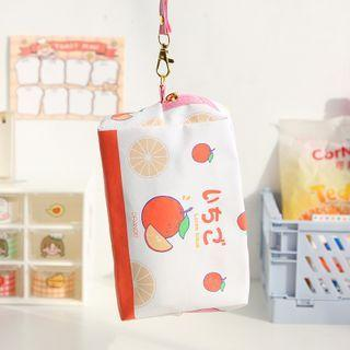 Fruit Print Makeup Bag