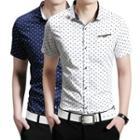 Heart Print Short-sleeve Shirt