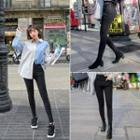 Asymmetric-waist Skinny Jeans