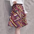 Patterned Corduroy A-line Skirt