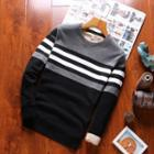 Color Block Fleece Lined Pullover