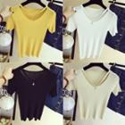 Inset Necklace Short Sleeve Tee