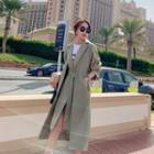 Mock Two-piece Belted Trench Coat