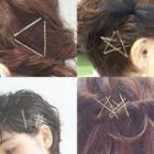 Alloy Hair Clip (various Designs) Set Of 10 - Gold - One Size