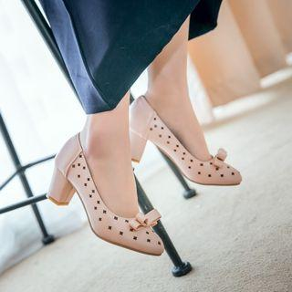 Bow Accent Perforated Pumps