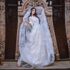 V-neck Lace Maxi Dress