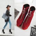 Genuine Leather High-heel Platform Short Boots