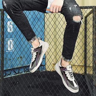 Color Block Paneled Platform Sneakers