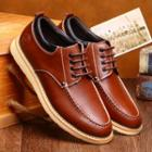 Genuine Leather Stitched Trim Oxfords