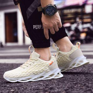 Mesh Perforated Platform Sneakers
