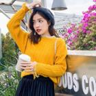 Cable-knit Fringed Sweater